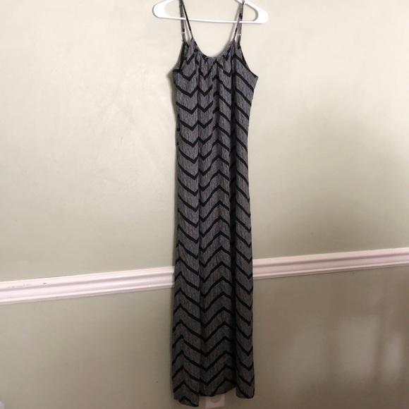 77f6c1f3f Target Summer Maxi Dress Black White Chevron (S)